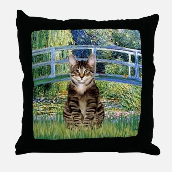Bridge - Tabby Tiger cat 30 Throw Pillow
