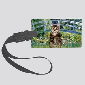 Bridge - Tabby Tiger cat 30 Large Luggage Tag