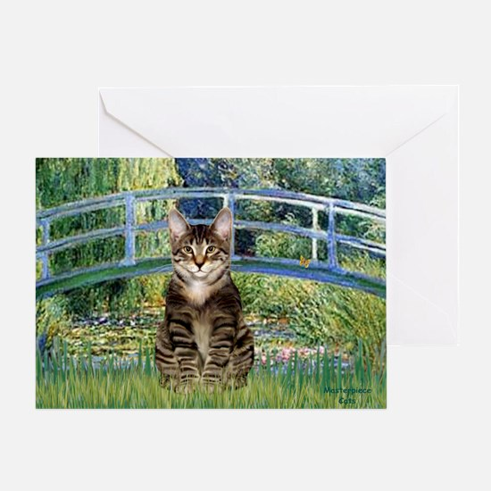 Bridge - Tabby Tiger cat 30 Greeting Card