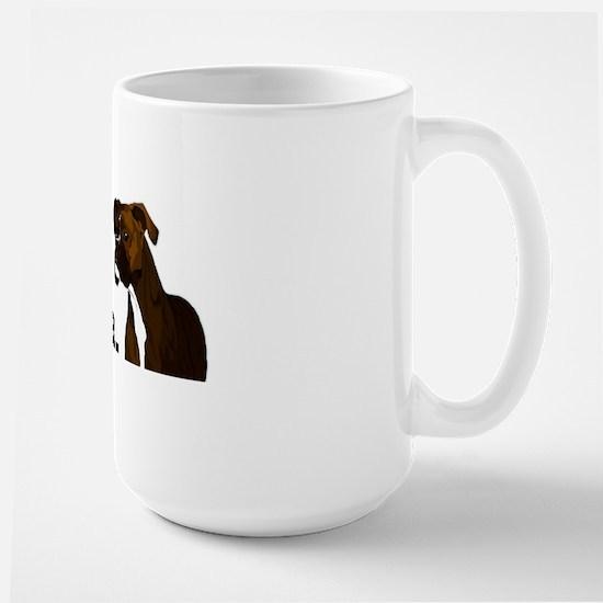 2-blessedboxermom Large Mug