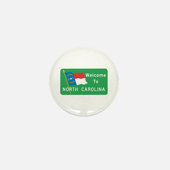 Welcome to North Carolina - USA Mini Button