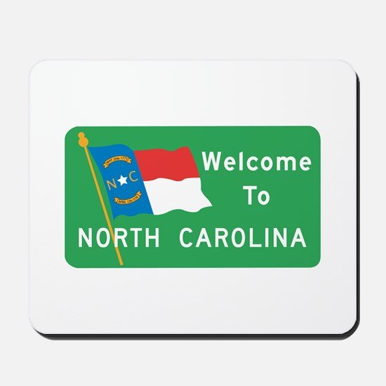 Welcome to North Carolina - USA Mousepad