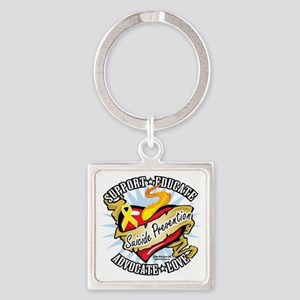 Suicide-Prevention-Classic-Heart Square Keychain