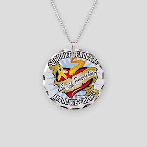 Suicide-Prevention-Classic-H Necklace Circle Charm