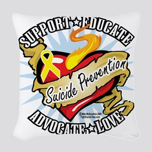 Suicide-Prevention-Classic-Hea Woven Throw Pillow