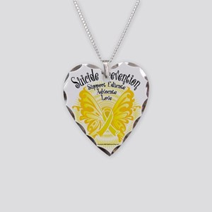 Suicide-Prevention-Butterfly- Necklace Heart Charm