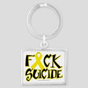 Fuck-Suicide Landscape Keychain