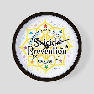 Suicide-Prevention-Lotus Wall Clock