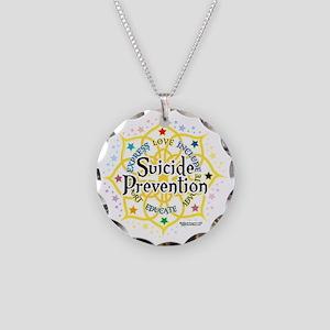 Suicide-Prevention-Lotus Necklace Circle Charm