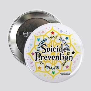 """Suicide-Prevention-Lotus 2.25"""" Button"""