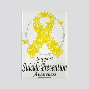 Suicide-Prevention-Ribbon-Of-Butt Rectangle Magnet