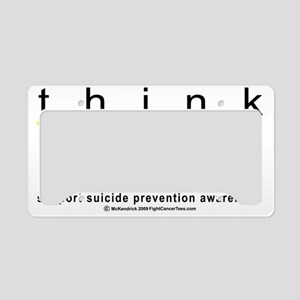 Think-YELLOW-Suicide-Preventi License Plate Holder