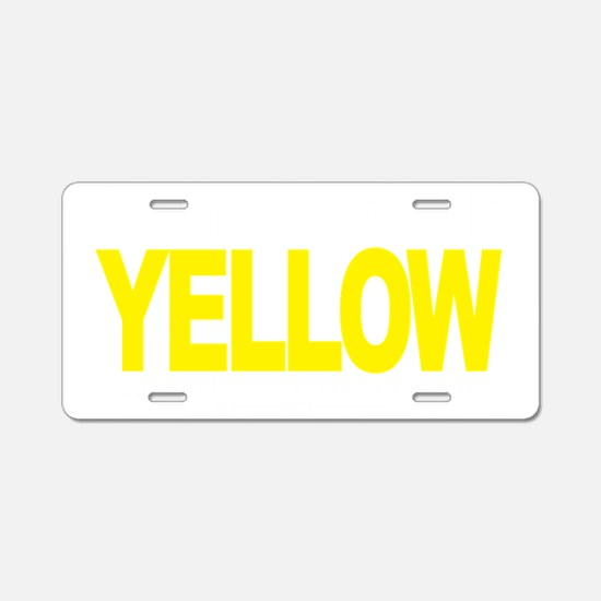 Think-YELLOW-Suicide-Preven Aluminum License Plate
