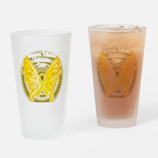 Suicide-Prevention-Butterfly-3-blk Drinking Glass