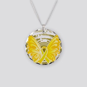 Suicide-Prevention-Butterfly Necklace Circle Charm