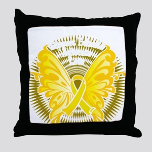 Suicide-Prevention-Butterfly-3-blk Throw Pillow