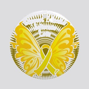 Suicide-Prevention-Butterfly-3-blk Round Ornament