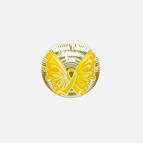Suicide-Prevention-Butterfly-3-blk Mini Button