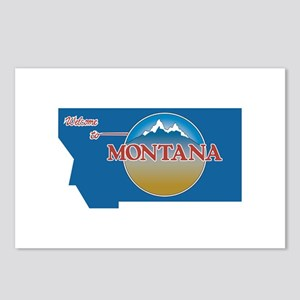 Welcome to Montana - USA Postcards (Package of 8)