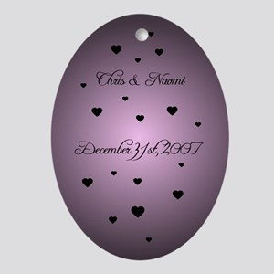 Ultra Violet FH Personalized Oval Ornament