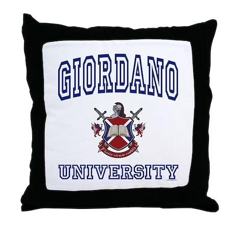 GIORDANO University Throw Pillow