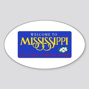 Welcome to Mississippi - USA Oval Sticker