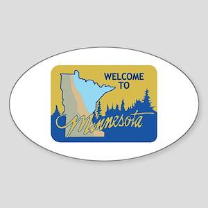 Welcome to Minnesota - USA Oval Sticker