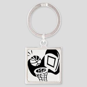 j0319842_BLACK Square Keychain