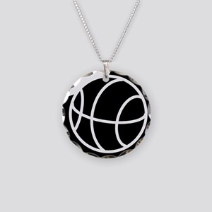 j0325764_BLACK Necklace Circle Charm