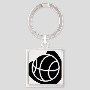 j0325764_BLACK Square Keychain