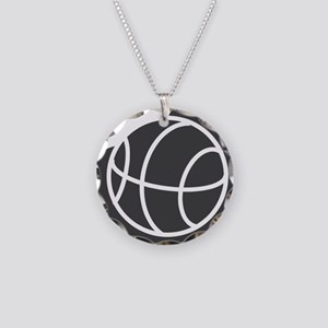j0325764_GRAY Necklace Circle Charm