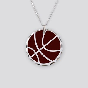 sl01042_CRIMSON Necklace Circle Charm