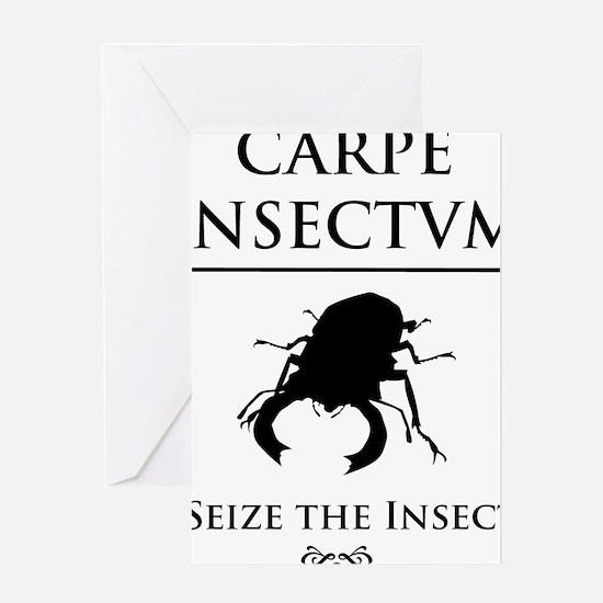 Carpe Insectum D black 3 Greeting Card