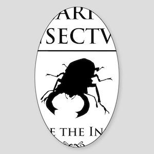 Carpe Insectum D black 3 Sticker (Oval)