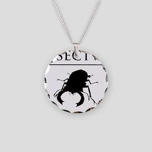Carpe Insectum D black 3 Necklace Circle Charm