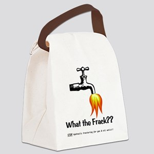 WhatTheFrack Canvas Lunch Bag