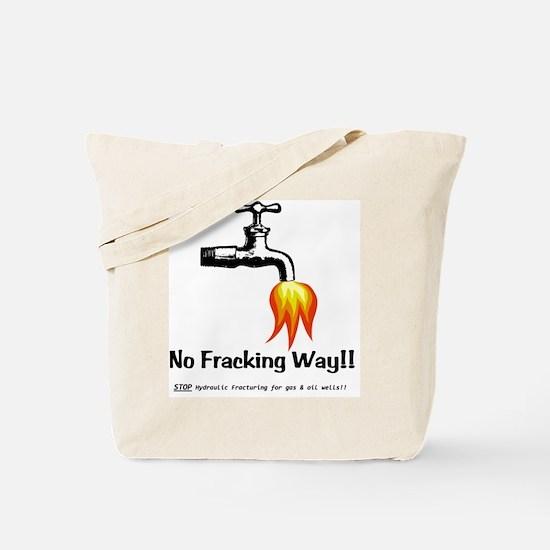 NoFrackingWay Tote Bag