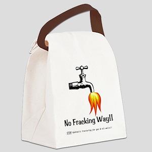 NoFrackingWay Canvas Lunch Bag