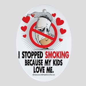 Stopped-Smoking-Kids Oval Ornament