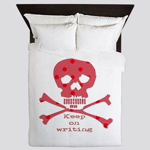 Keep on writing - red Queen Duvet