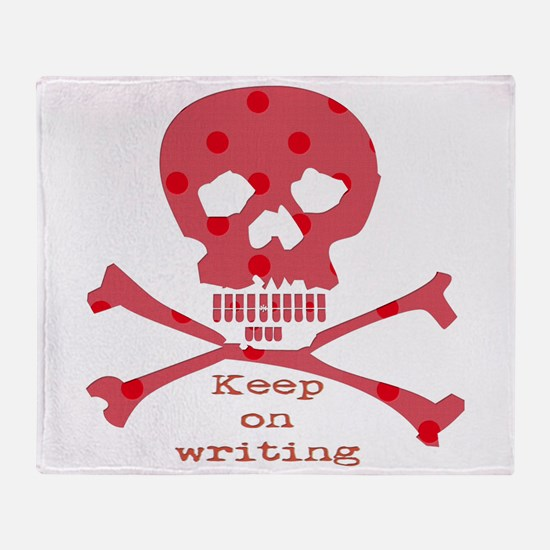 Keep on writing - red Throw Blanket
