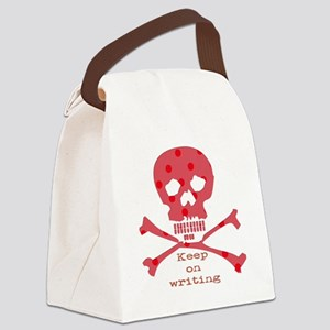 Keep on writing - red Canvas Lunch Bag