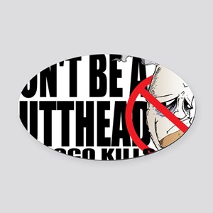 Butthead Oval Car Magnet