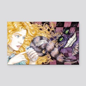 Alice  Cheshire Rectangle Car Magnet