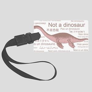 Plesiosaurus_NotADinosaur Large Luggage Tag