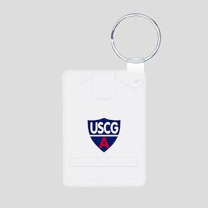 USCGAux-Rank-ADSO- Aluminum Photo Keychain