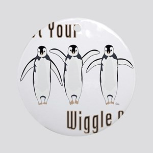 Wiggle Penguins Round Ornament