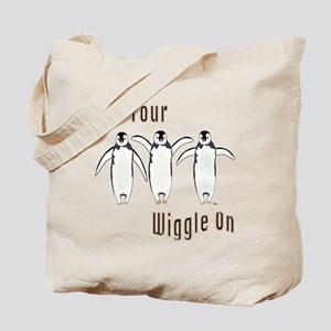 Wiggle Penguins Tote Bag