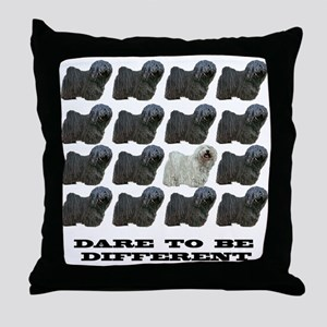 Puli : Dare to be Different Throw Pillow
