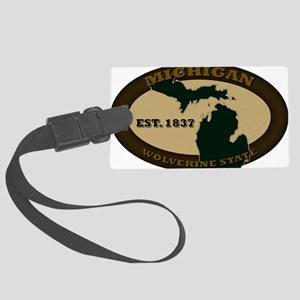 Michigan Est 1837 Large Luggage Tag